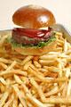 タイトル:ハンバーガーとポテト