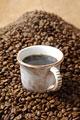 タイトル:コーヒーとコーヒー豆