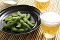 タイトル:ビールと枝豆