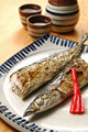 タイトル:サンマの塩焼きと日本酒