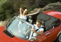 タイトル:Couple in convertible