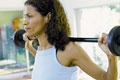 タイトル:Woman weight-training