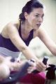 タイトル:Woman cycling