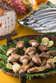 タイトル:松茸と秋刀魚