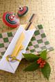 タイトル:祝い箸と皿