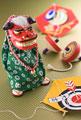 タイトル:獅子舞と凧と独楽
