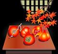 タイトル:柿とザクロ
