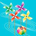 タイトル:紙風船と風車