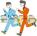タイトル:ジョギングをする親子