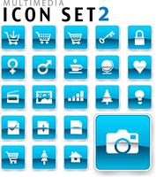 flat icon blue