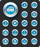 icon metal blue