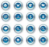 icon metal blue shield