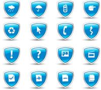 shield blue