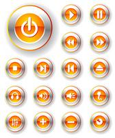 icon metal red white