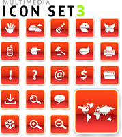 flat icon red