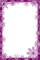 Snowflakes frame, vector illustration
