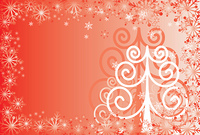 Christmas background with a snowflakes, vector