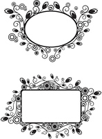 Floral frame, vector