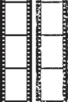 Grunge photo border,5 mm film, vector illustration
