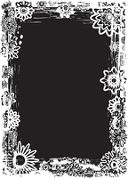 Grunge flower frame, vector