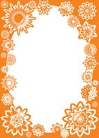Flower frame, vector
