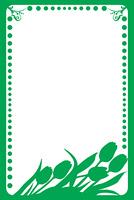 Spring frame, vector illustration