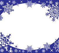 Winter frame with snowflakes, vector