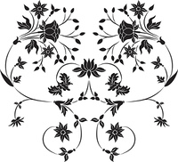 Element for design, flower illustration
