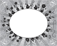 Element for design, flower frame