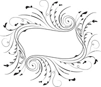 Floral frame, element for design, vector