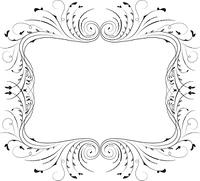 Floral frame, element for design, vector