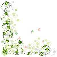 Floral frame green