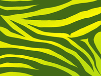 Vector green and yellow stripped tiger design