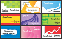 Business contemporary design of 9 different visiting cards