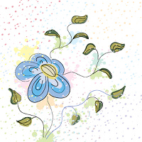 Pastel spring flower hand drawn vector illustration