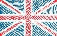 fingerprinted flag of United Kingdom