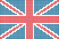 dotted flag of United Kingdom
