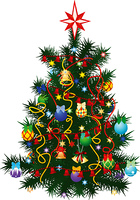 The image of the christmas fur-tree decorated by a holiday