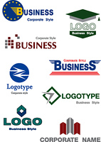 Collection of vector logotypes for your company. Business concept