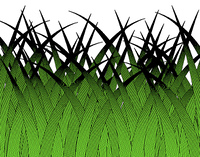 Editable vector design of stylized grass blades