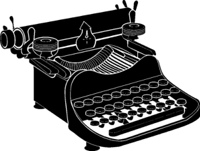 Detailed vector illustration of a manual typewriter