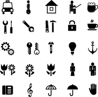 Set of different vector pictograms