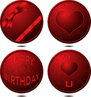 Collection of buttons that could be used for all occasions or birthday