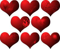 ideal heart collection for your valentines day card