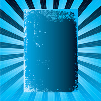 cool blue background with plenty of blank copy space on a radiating design