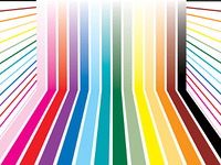 Colorful room or rainbow stripes ready to add your own copy over the top