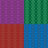 Abstract seventies wallpaper design in a variety of four colors