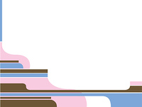 Illustrated border in subtle pink blue and brown colour in an inca style