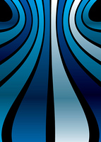 Abstract blue background with symmetrical lines with wave effect