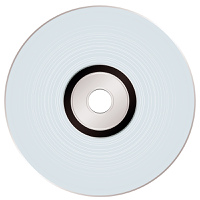 Shiny silver compact disc ideal for music or data storage